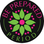 Be Prepared. Period. Logo
