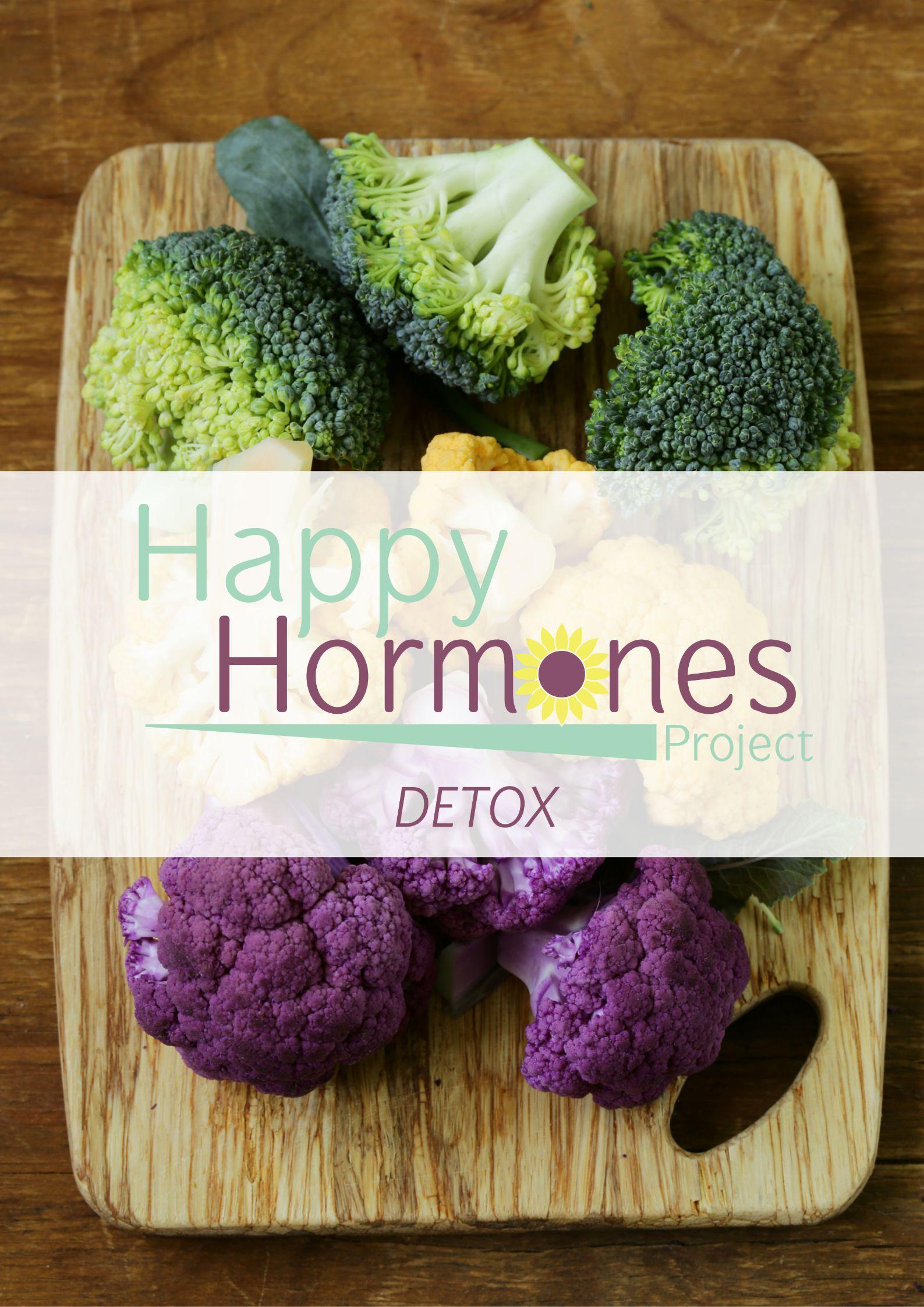 happy hormones detox landing page poster graphic