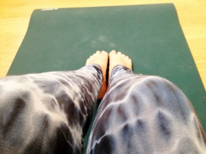 On my mat, at the studio. Ahhh...