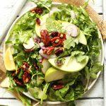 apple pecan arugula salad minimalist baker