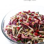 festive winter cabbage slaw leelalicious