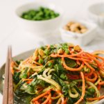 spiralized sesame noodle salad inspiralized